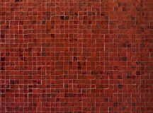 Red mosaic tiles Royalty Free Stock Photos
