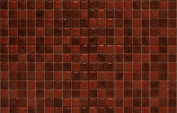 Red mosaic tiles. For decoration Royalty Free Stock Image