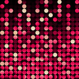 Red mosaic, vector. Abstract background with red dots Stock Photography