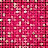 Red mosaic, vector. Red mosaic made from small circles Royalty Free Stock Photos