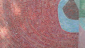 Red mosaic wall decoration texture Stock Photos