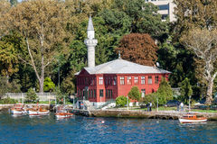 Red mosque on Bosphorus, Istambul Royalty Free Stock Image
