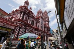 Red mosque of Colombo in Sri Lanka Royalty Free Stock Photo
