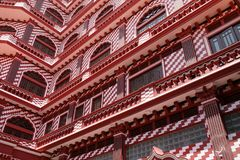 Red mosque of Colombo in Sri Lanka Royalty Free Stock Images