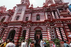 Red mosque of Colombo in Sri Lanka Stock Image