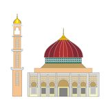 Red mosque Stock Photography