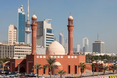 Red Mosque in Kuwait City. Bader Al Mailam Mosque in Kuwait City, Middle East Royalty Free Stock Photos