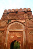 Red Mosque at Taj Mahal. The Red Mosque on the grounds of the Taj Mahal in Agra, India Stock Image