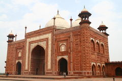 Red Mosque at Taj Mahal. The Red Mosque on the grounds of the Taj Mahal in Agra, India Royalty Free Stock Image