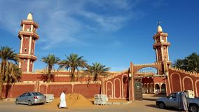 The red mosque of timimoun royalty free stock photo