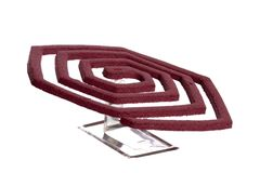 Red Mosquito Coil Stock Photo
