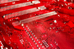 Red Motherboard Royalty Free Stock Photography