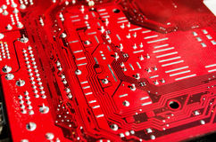 Red Motherboard Stock Photo