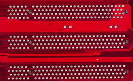 Red motherboard. Stock Photography