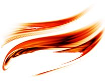 Red motion, flowing energy Stock Images