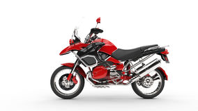 Red Moto GP Bike. Side View Royalty Free Stock Image
