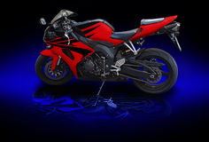 Red Motobike Royalty Free Stock Photography