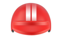 Red motocross racer helmet. Helmet for delivery man Royalty Free Stock Image
