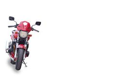 Red motor bike Royalty Free Stock Image
