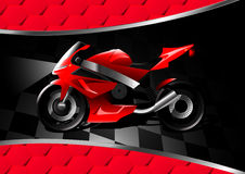Red motor bike at night on textured background Royalty Free Stock Photography