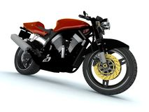 Red Motor cycle Stock Images