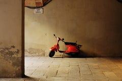 Red motorbike Stock Photo