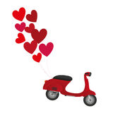 Red motorbike Royalty Free Stock Images