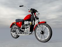Red motorbike - 3D render Royalty Free Stock Images