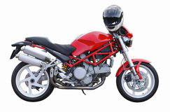 Red motorbike. Royalty Free Stock Image