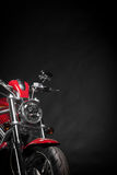 Red motorcycle Royalty Free Stock Photos