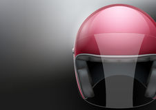 Red Motorcycle helmet Royalty Free Stock Photos