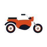 Red motorcycle icon Stock Photos