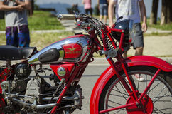 red motorcycle Royalty Free Stock Image