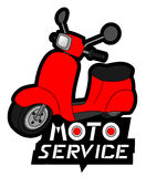 Red motorcycle service Royalty Free Stock Image