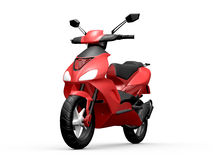 Red Motorcycle Royalty Free Stock Images
