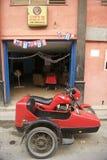 Red Motorcycle Sidecar Havana Cuba Royalty Free Stock Image