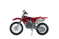 Red Motorcycle Toy Red Isolated On White Background, Stock Photography