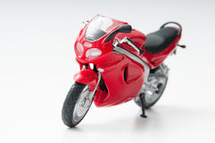 Red motorcycle Stock Image