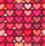 Red mottled hearts vector seamless pattern Stock Image