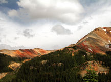 Red Mountain. In Colorado north of Durango stock images