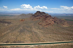 Red Mountain and Arizona Canal stock images