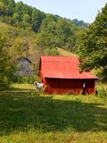Red mountain barn Stock Image