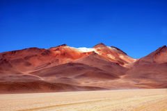 Red mountain in bolivia Stock Images