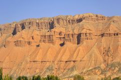 Red mountain canyon. Locatted in Gansu province, China Stock Images