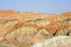 Red mountain canyon. In Zhangye, China Royalty Free Stock Image