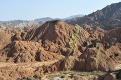 Red mountain canyon. In Zhangye, China Royalty Free Stock Photography