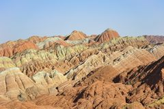 Red mountain canyon. In Zhangye, China Stock Images