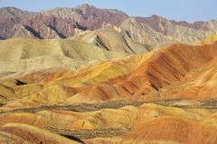Red mountain canyon. In Zhangye, China Royalty Free Stock Images
