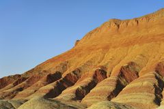 Red mountain canyon. In Zhangye, China Stock Image