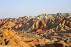 Red mountain canyon. In Zhangye, China Stock Photos
